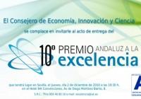 Invitación Entrega Premios a la Excelencia X edición