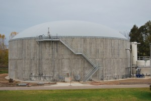 Anaerobic digestion treatment plant