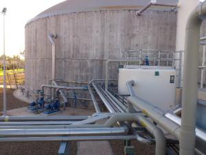 Detalle de la instalación. Reactor de 9.000 m3